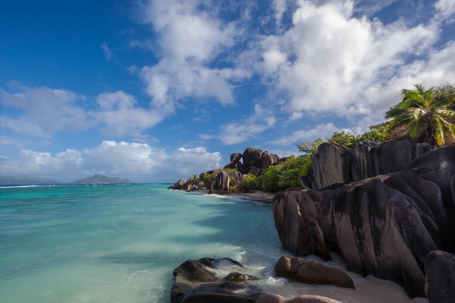 Остров Ла Диг, Сейшелы. Пляж Анс Сурс дАржан