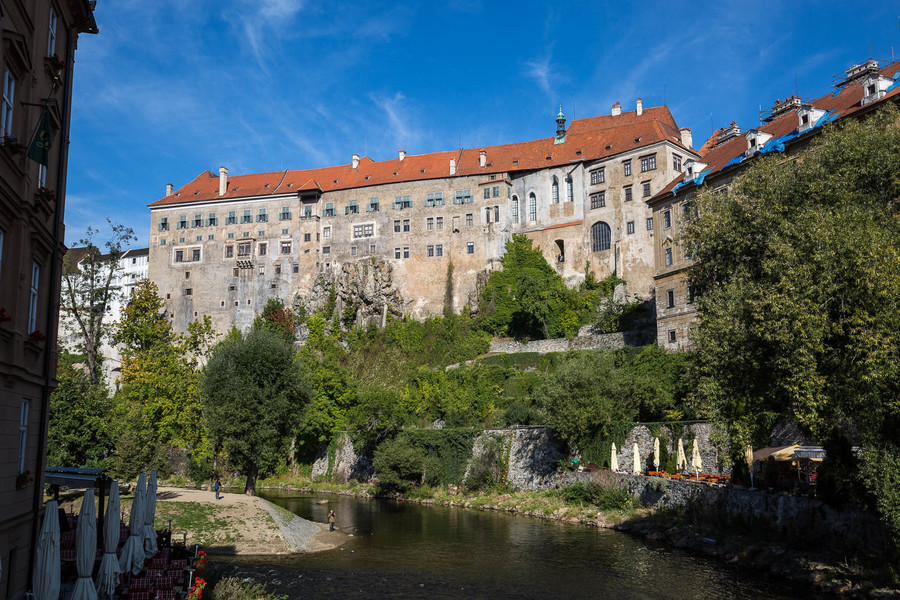Чески-Крумлов - небольшой чешский городок из средневековья