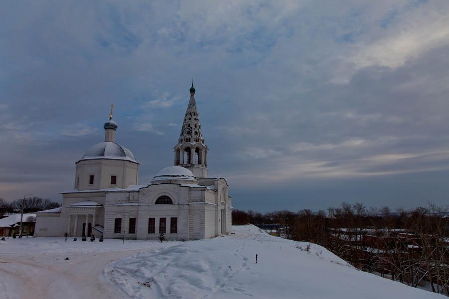 Город Серпухов. Январь
