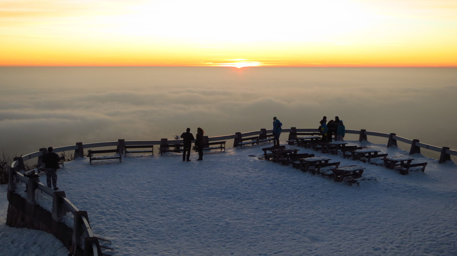 Вид с вершины горы Йештед