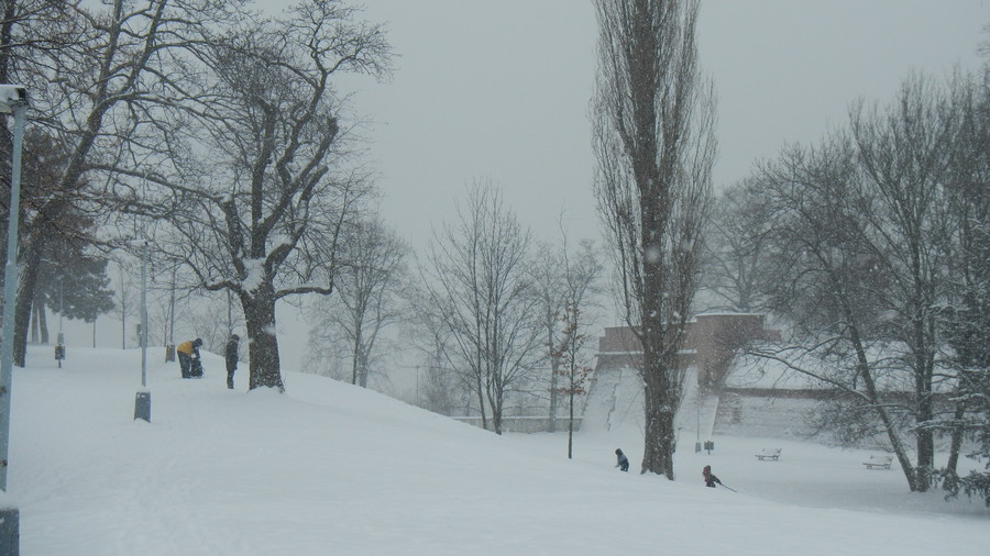 Очарование заснеженной Праги