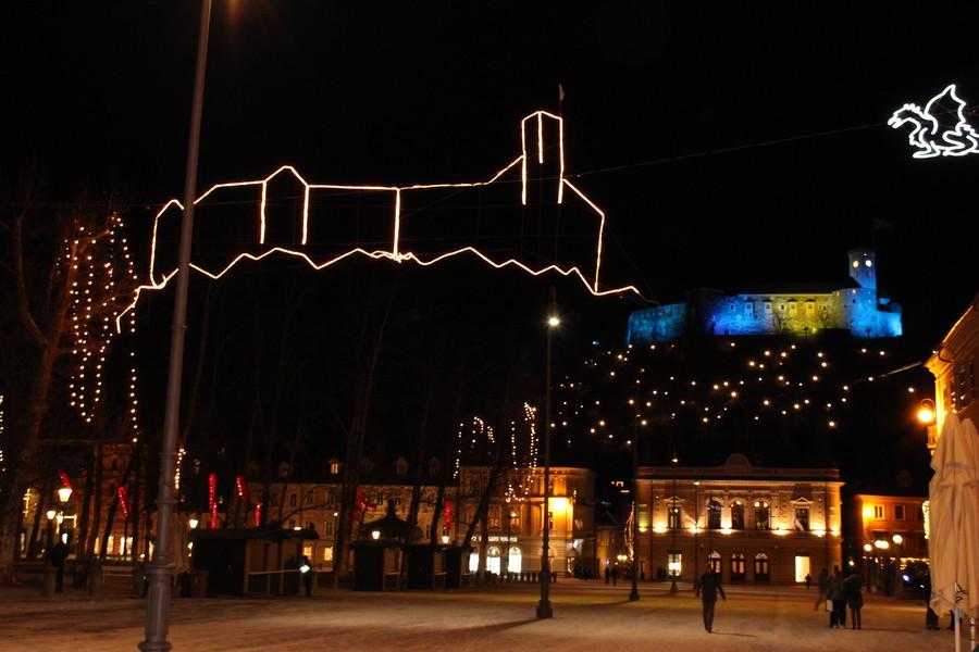 Новогодние праздники в Любляне
