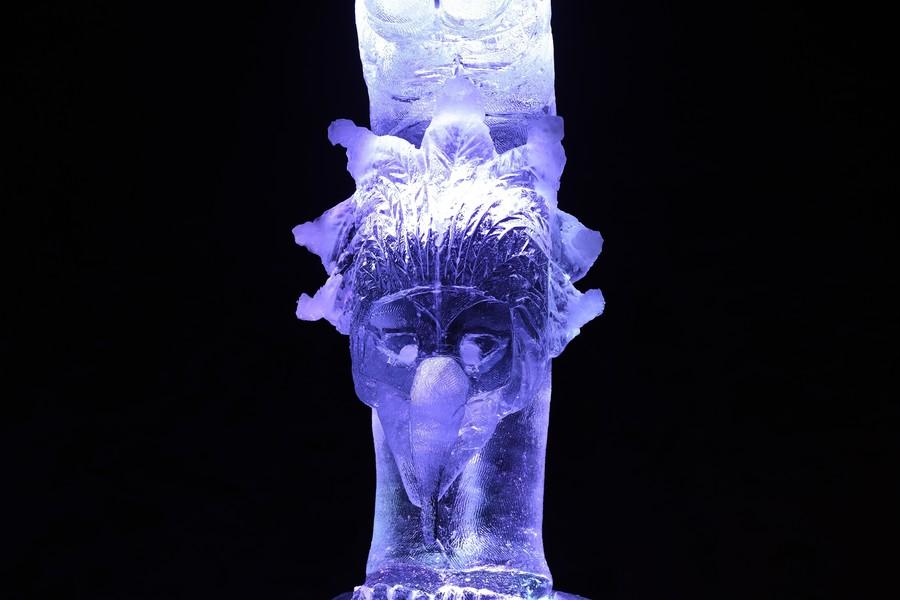 Международный фестиваль ледовых скульптур в Елгаве 2017