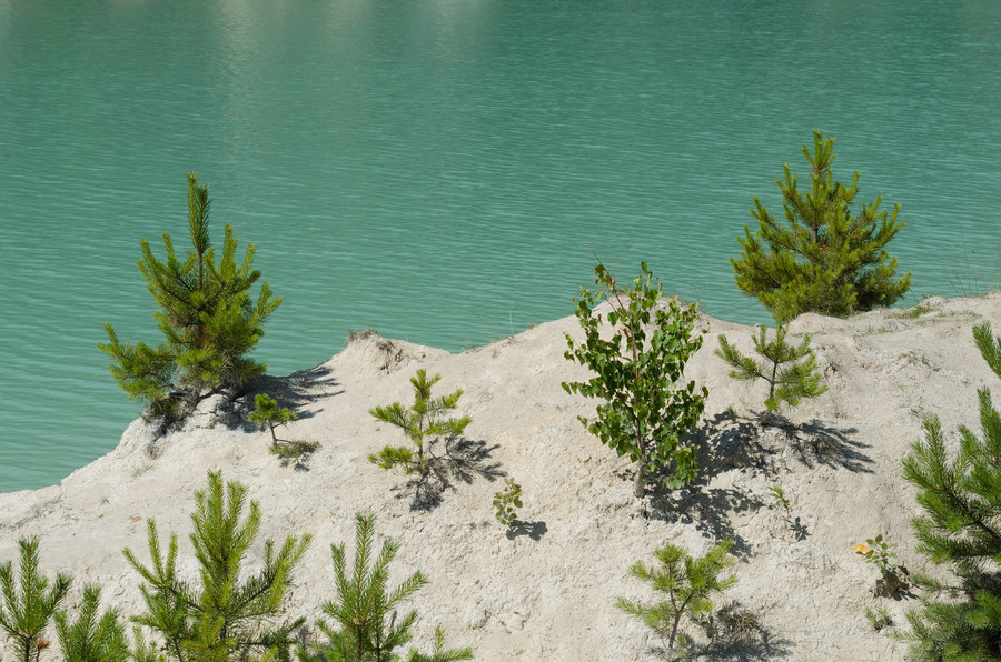 Каолиновый карьер недалеко от Кыштыма