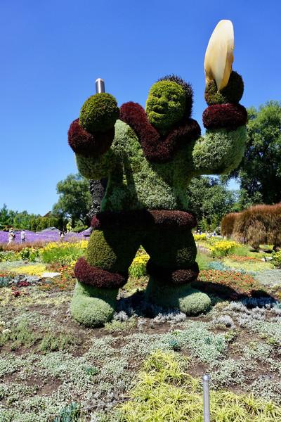 Цветочные фигуры в Парке Жака Картье