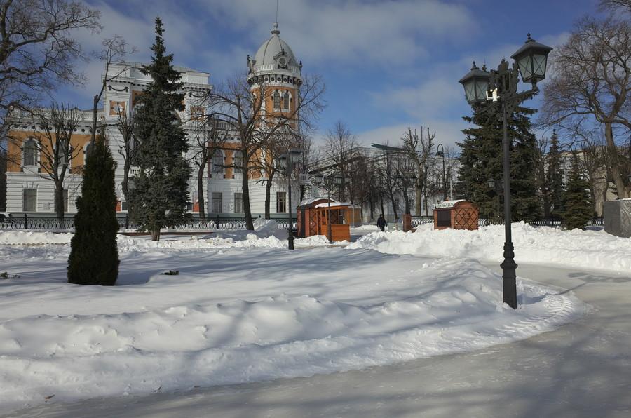 Бульвар Новый Венец зимой, Ульяновск
