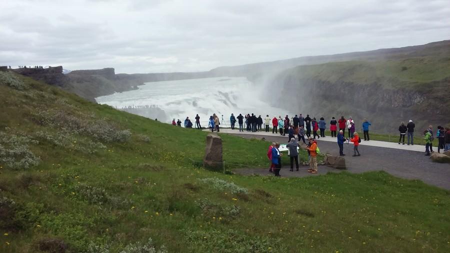 Исландия. Водопад Гюдльфосс