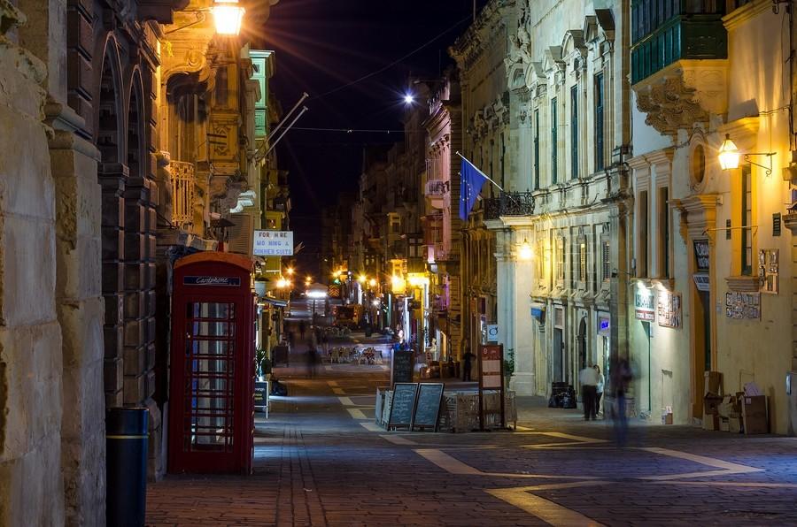 Столица Мальты - Валлетта вечером