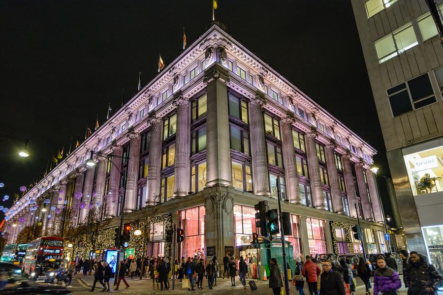 Предпраздничные огни Лондона