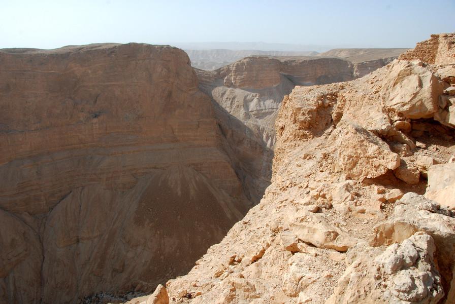 Древняя крепость Масада в Израиле