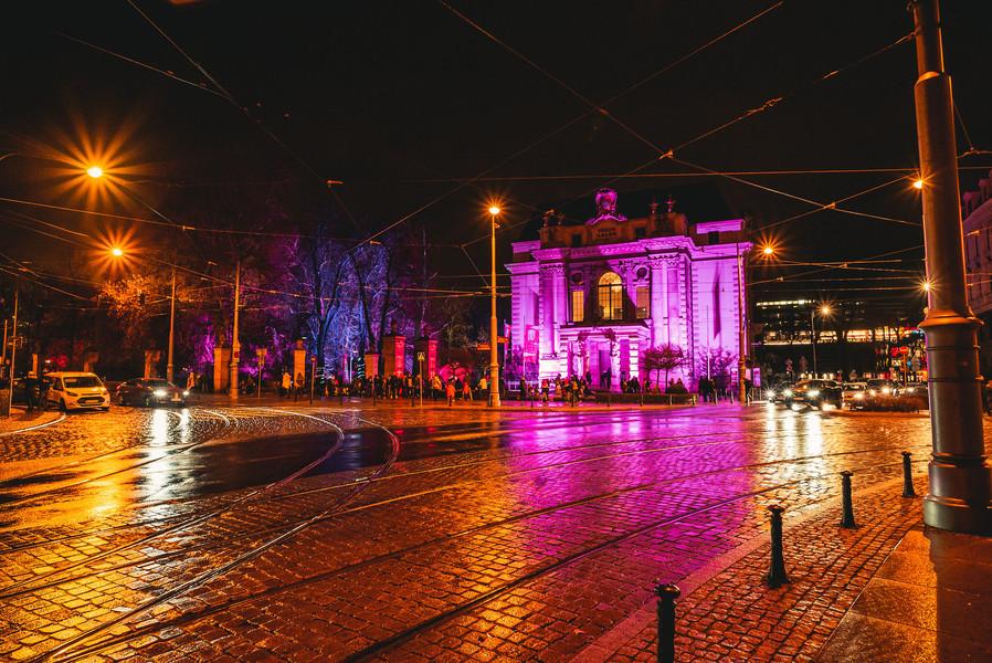 Огни вечернего Вроцлава