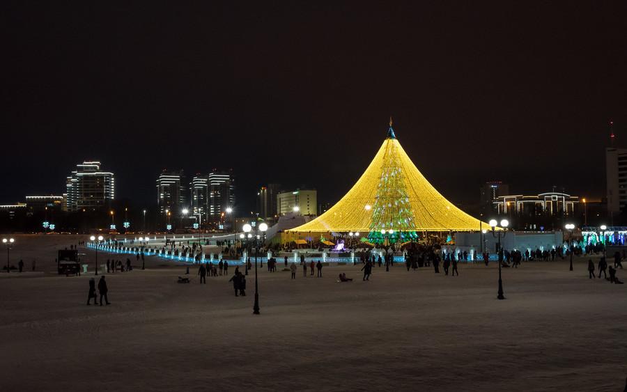 Казань в начале января