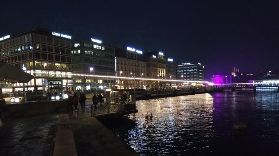 Женева в конце января. Фестиваль огней