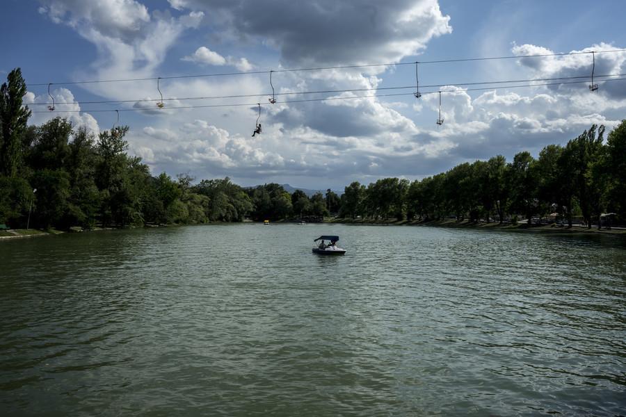 Городской парк города Нальчик прошлым летом
