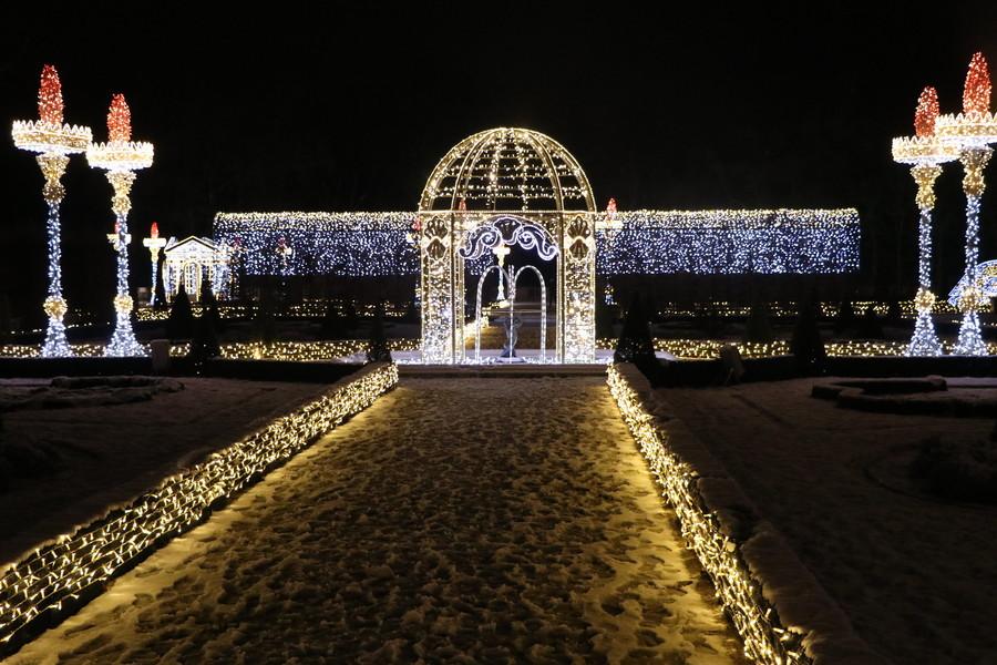 Сад Вилянувского дворца в январе