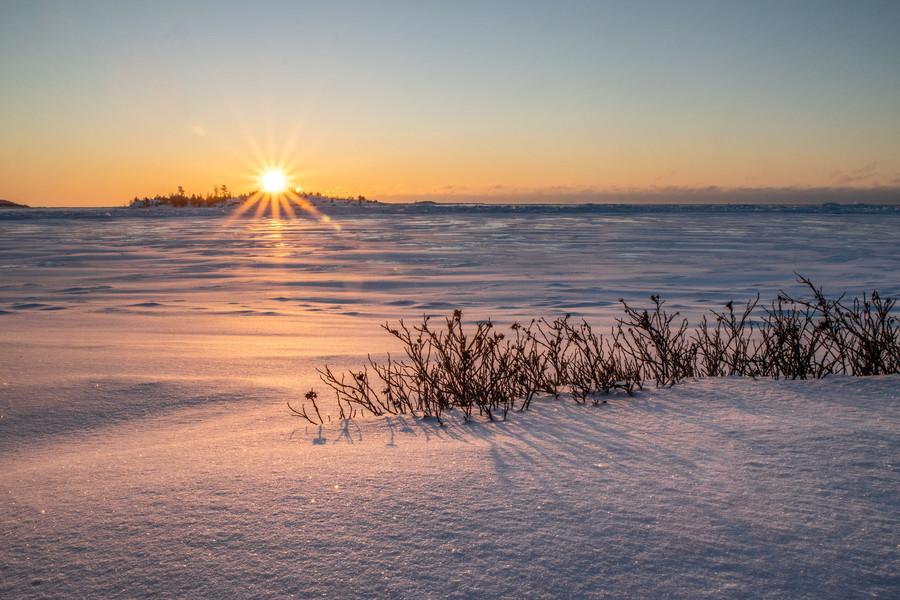 Немного ранней весны. Ладожское озеро