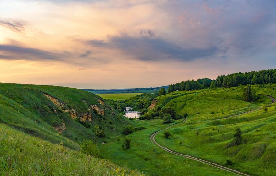 Красивая Меча. Река Тульской и Липецкой областях