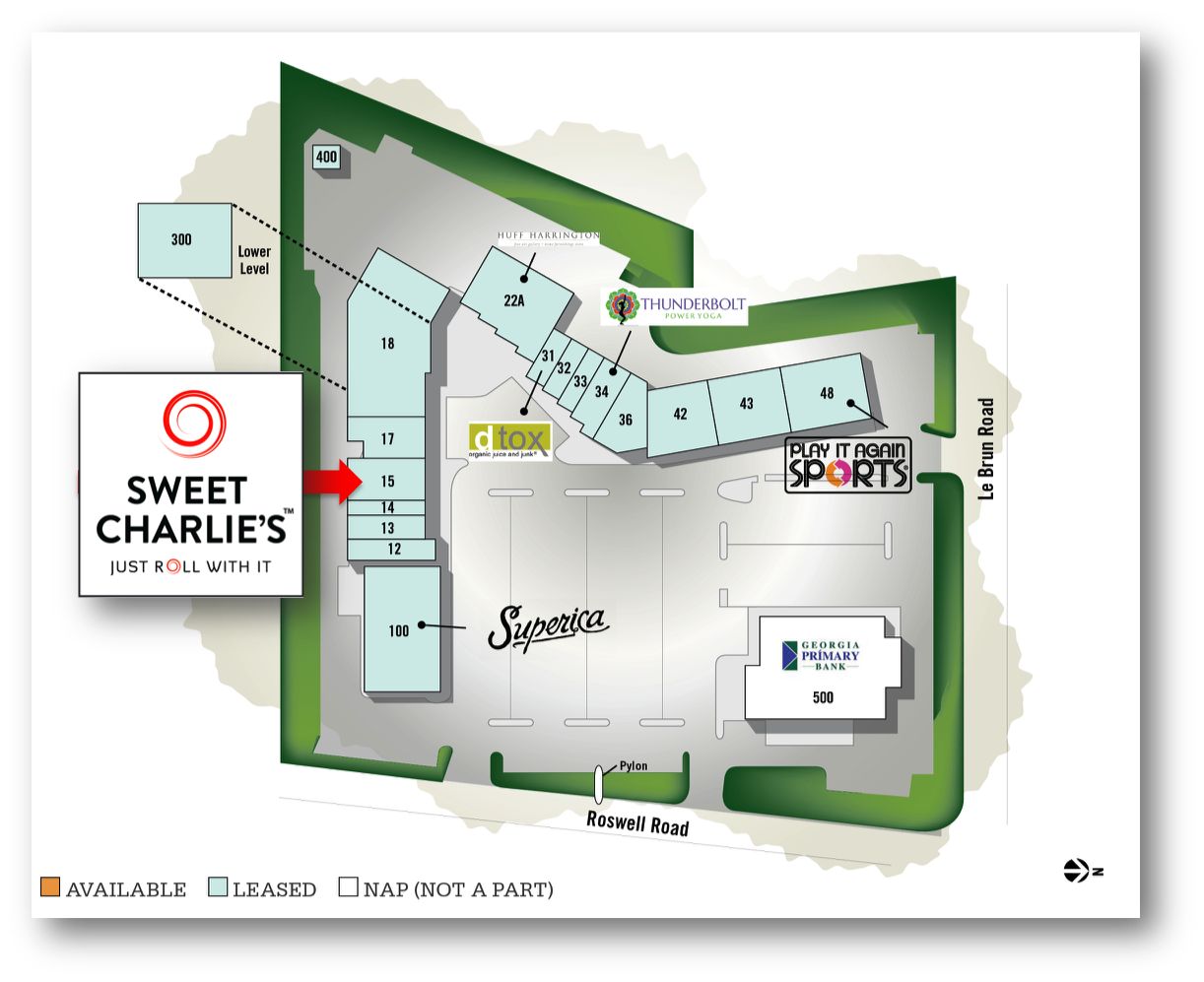 Sweet Charlie's Buckhead Court Site Plan