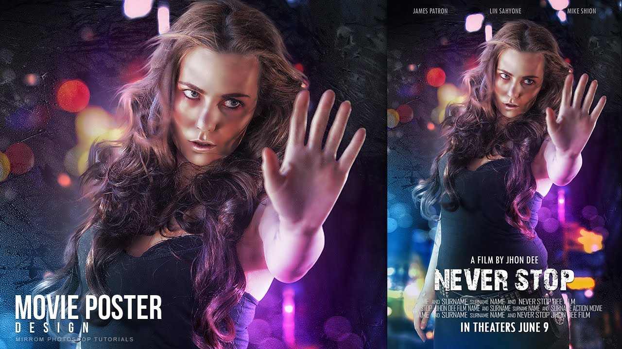 Create an Movie Poster With Bokeh And Light Effect In