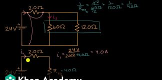 Current-through-resistor-in-parallel-Worked-example-DC-Circuits-AP-Physics-1-Khan-Academy