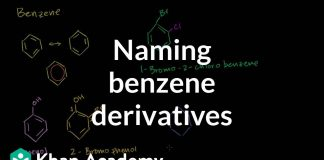 Naming-benzene-derivatives-introduction-Aromatic-Compounds-Organic-chemistry-Khan-Academy