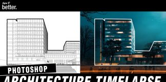 Office-Building-Visualisation-Timelapse-in-Photoshop