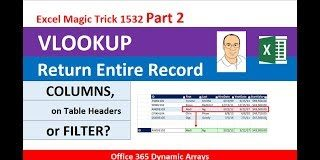 VLOOKUP-To-Get-Complete-Record-EMT-1532-Part-2-COLUMNS-amp-Table-Headers-or-FILTER-Function