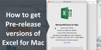 How-to-Get-The-Mac-Excel-2016-Office-Insiders-Fast-Pre-Release-Build