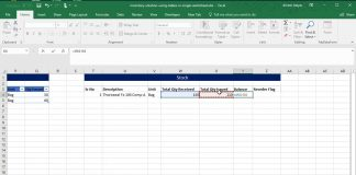 Inventory-Solution-Using-Tables-in-Single-Worksheet