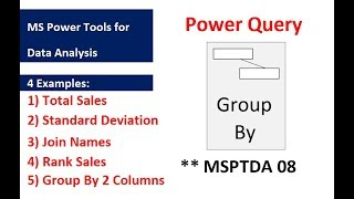 MSPTDA 08: Power Query Group By feature & Table Group