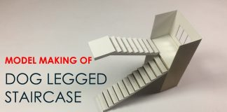 HOW-TO-make-a-model-of-doglegged-STAIRCASE-easy-way
