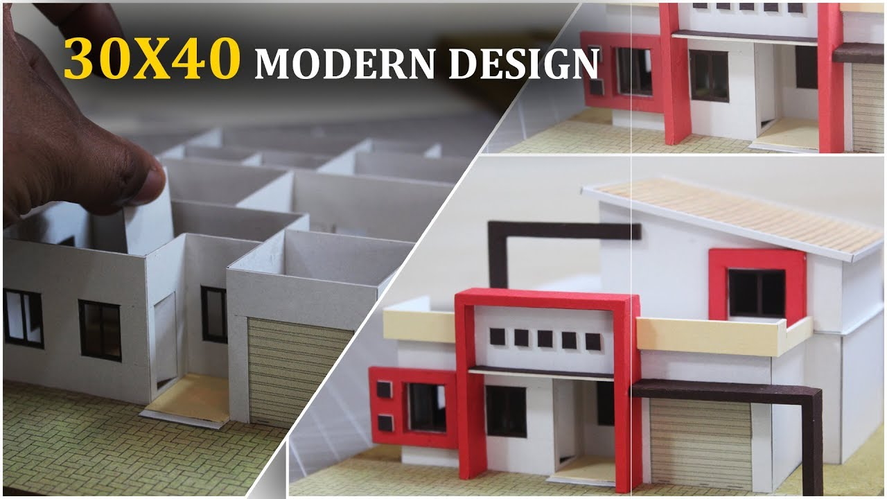 Model Making Of 30x40 Modern House Design Youaccel Media