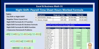 Excel-amp-Business-Math-31-Night-Shift-Hours-Worked-Formula-for-Payroll-Time-Sheet-3-Examples