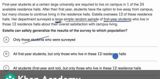 Generalizabilty-of-survey-results-example-Study-design-AP-Statistics-Khan-Academy