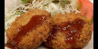 Menchi-katsu-Recipe-Deep-Fried-Breaded-Ground-Meat-Cooking-with-Dog