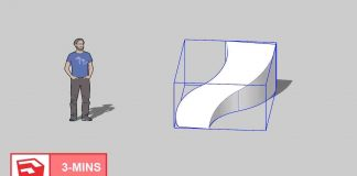Drawing-a-CURVED-SLOPE-in-SKETCHUP-TIPS